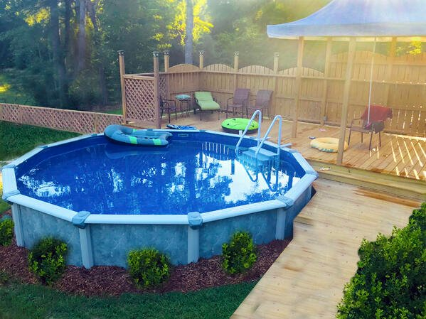 Semi inground swimming pools