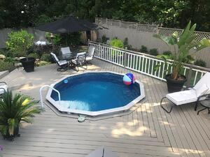 Designing a swimming pool deck