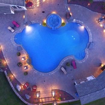 pool lights landscaping