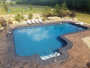 How to hide pool coping with your deck design