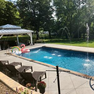 Saltwater swimming pool maintenance schedule