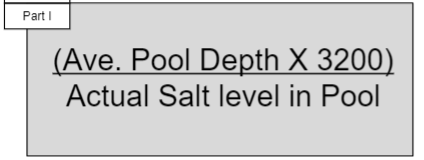 How much water to add when pool has too much salt