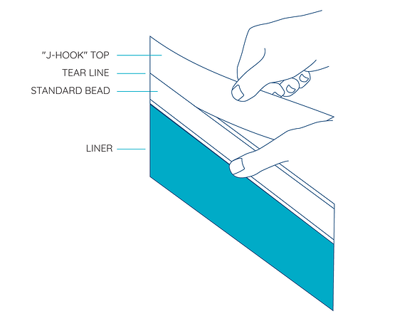 Uni-Bead System Swimming Pool Liner Installation Illustrations - 4@2x