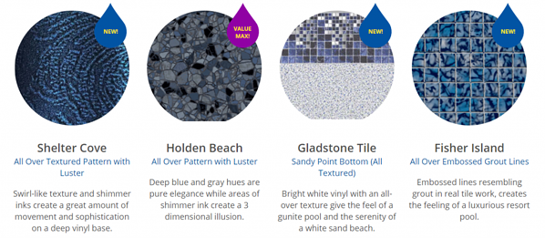 How to choose a swimming pool liner texture