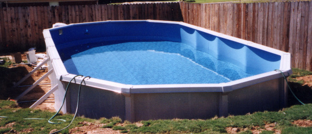 Semi-Inground Pool Construction