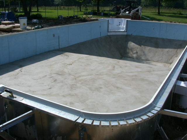 Inground Pool Vermiculite Base