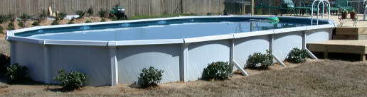 18x33 Oval Semi-Inground Swimming Pool