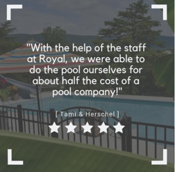 Royal Swimming Pools-customer quote