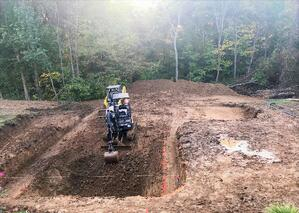 Inground Swimming Pool Install - Excavation