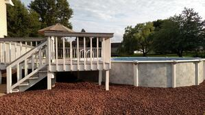 Semi Inground Pool and Deck