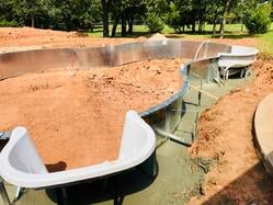 Concrete footer and PVC piping Royal Swimming Pools