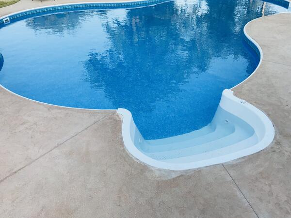 Bullnose Coping Bolt On Step Royal Swimming Pools