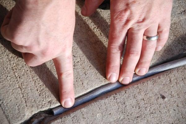 caulking damage repair for swimmign pools