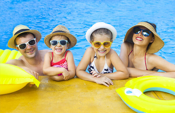 Family Fun in the Swimming Pool