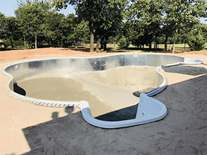 Inground Pool Installation - Vermiculite