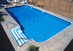 Inground Swiming Pool Install - Decking