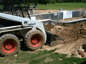 Inground Pool Installation - Backfill