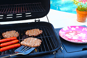 Pool Party Hot Dogs Hamburgers