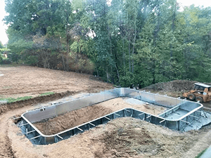 Inground Pool Install: Steel Walls