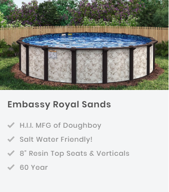Royal Swimming Pools Exclusive Semi-Inground Swimming pool model