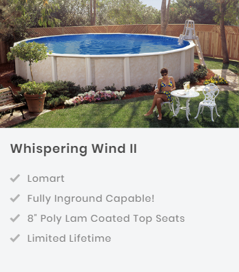 Whispering Wind II Semi-Inground Swimming Pool